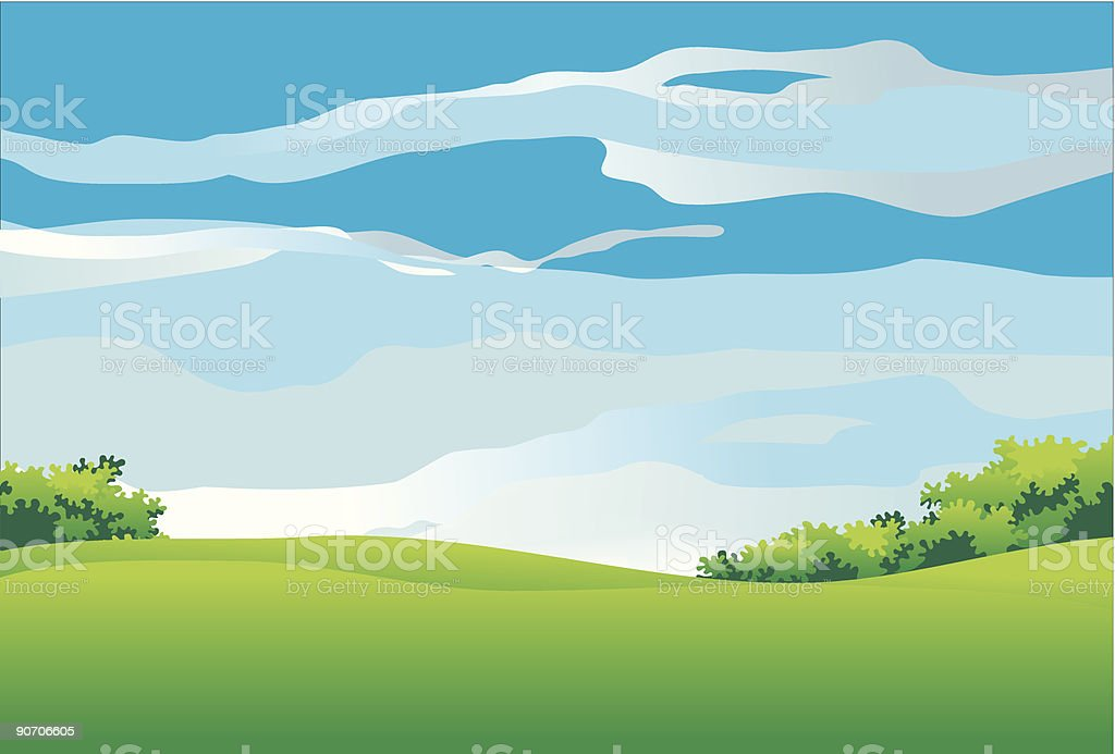 Summer landscape royalty-free stock vector art