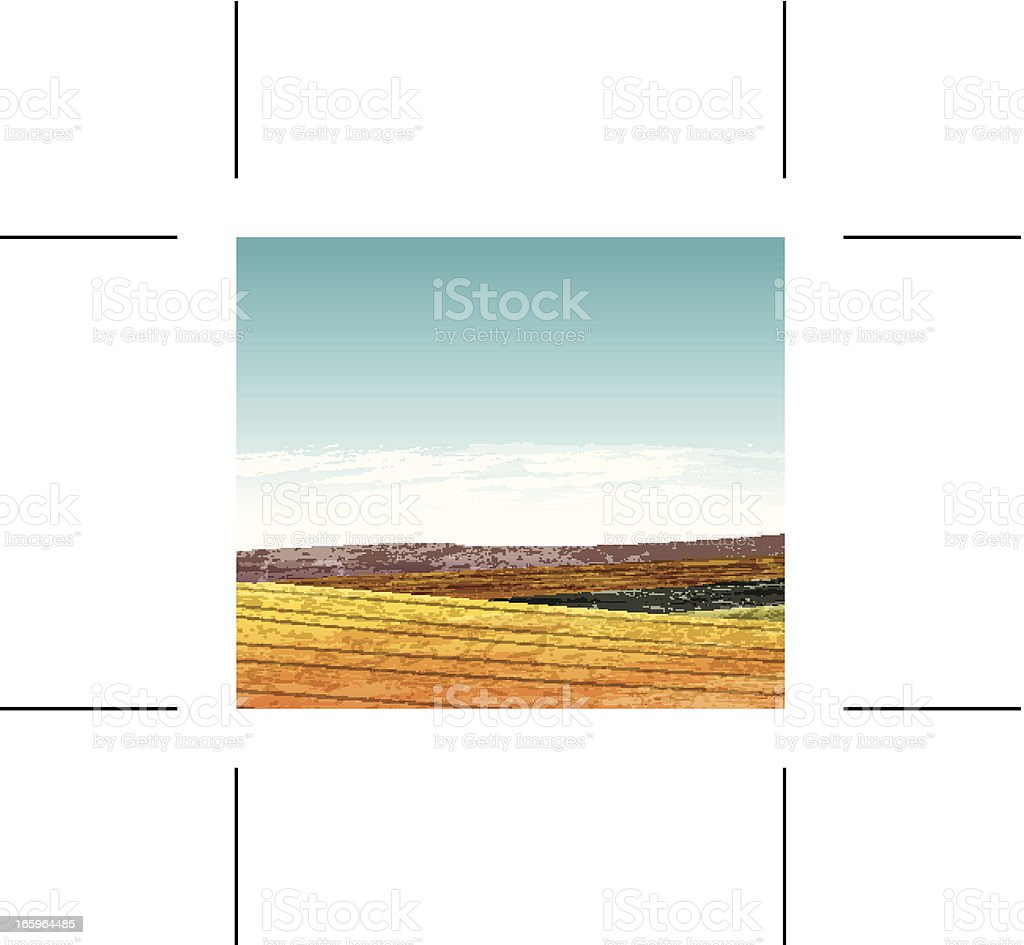 Summer landscape with hills royalty-free stock vector art