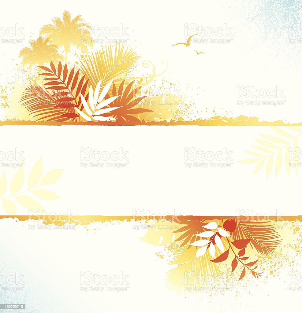 Summer Leaf Frame royalty-free stock vector art