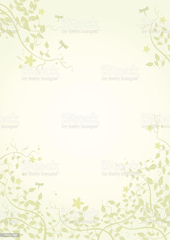 Summer Leaf Frame - Vector royalty-free stock vector art