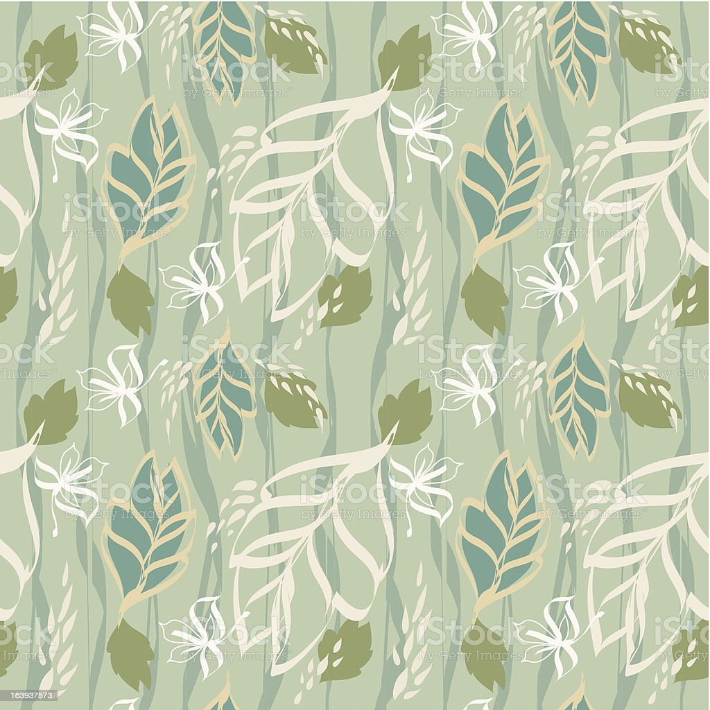 Summer leaves texture seamless pattern. royalty-free stock vector art