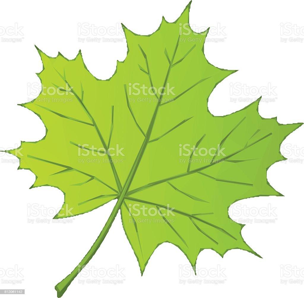 Summer Maple Leaf Low Poly vector art illustration