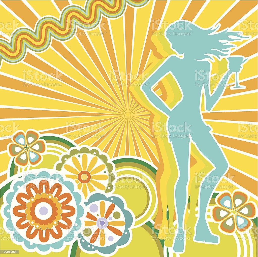 Summer mood vector art illustration