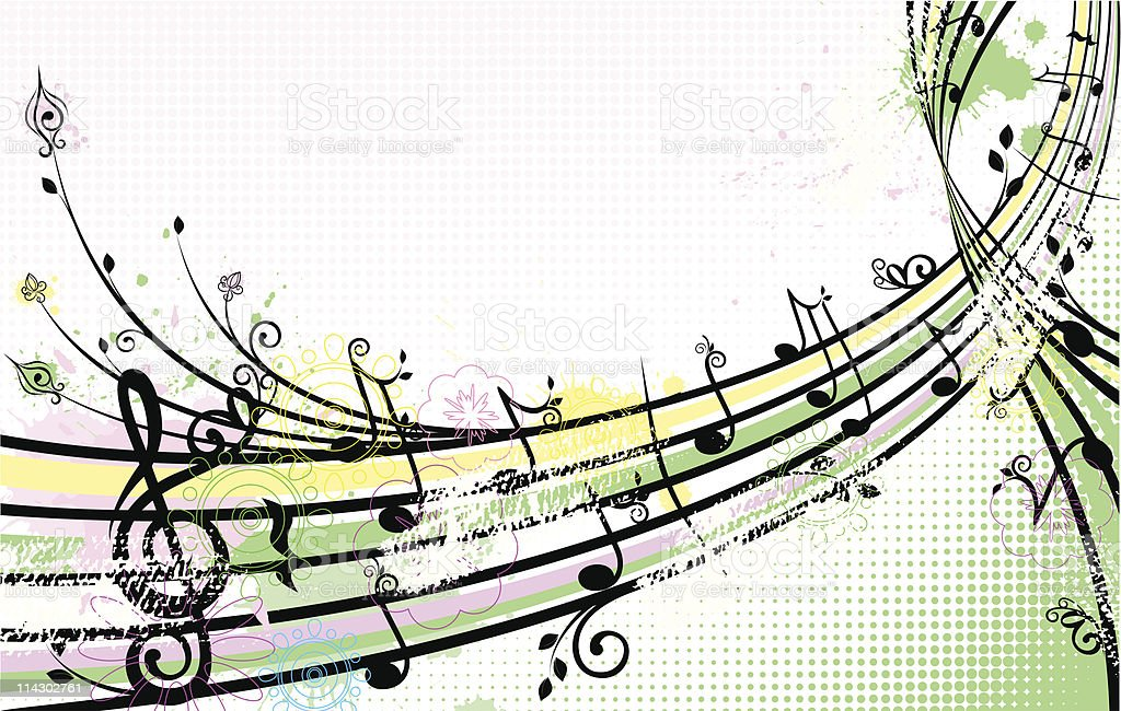 summer music background royalty-free stock vector art