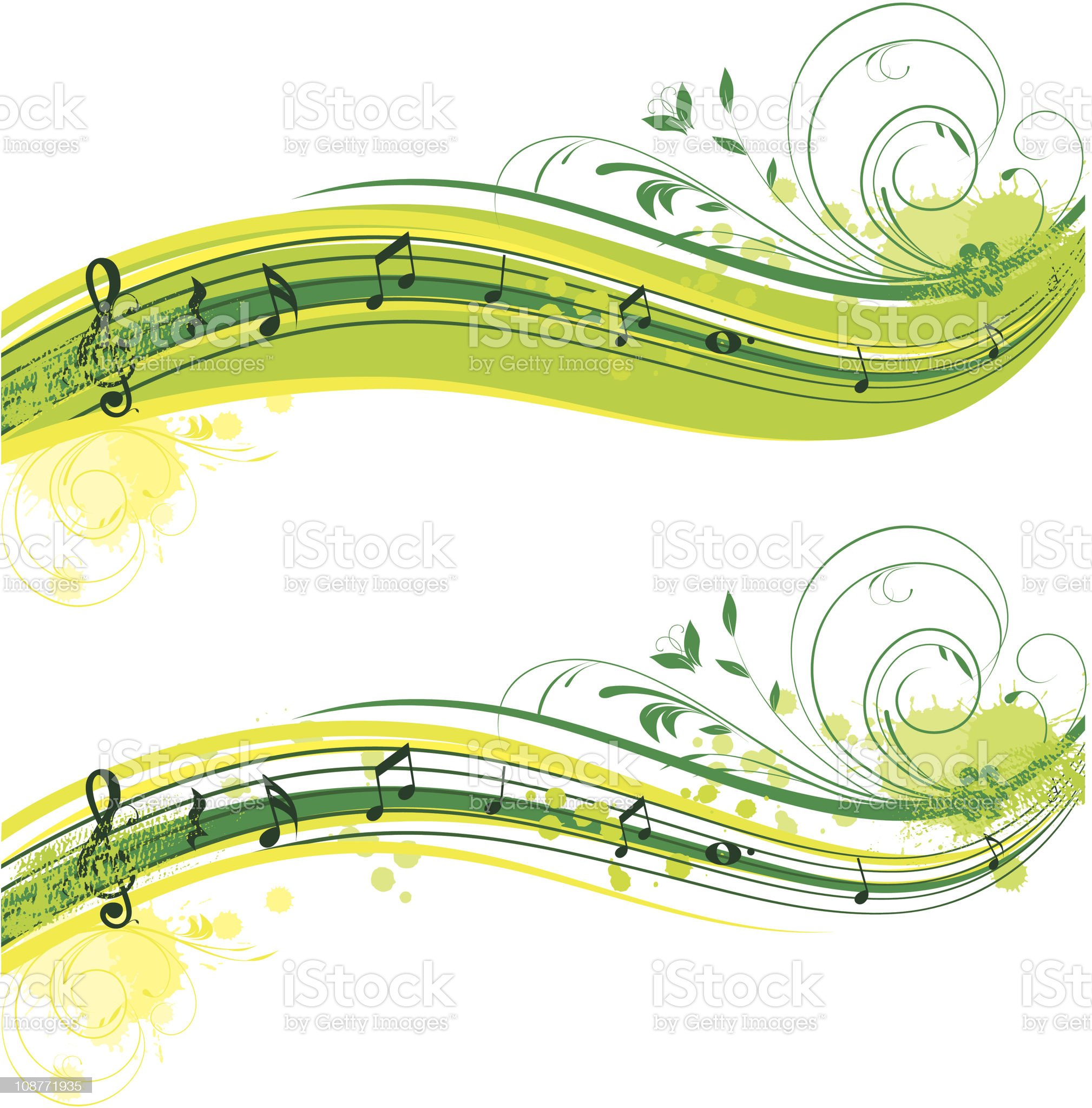 summer musical banners set royalty-free stock vector art