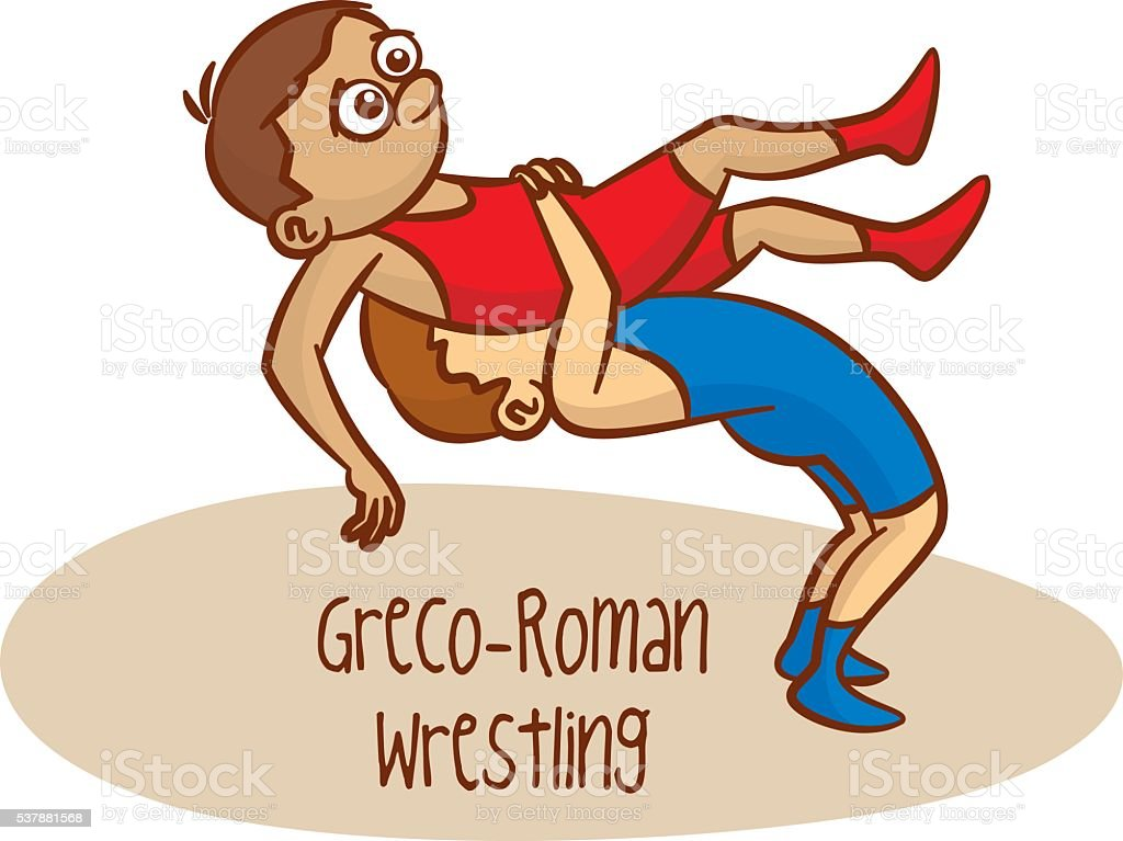 Summer Olympic Games. Sport. Greco-Roman Wrestling vector art illustration