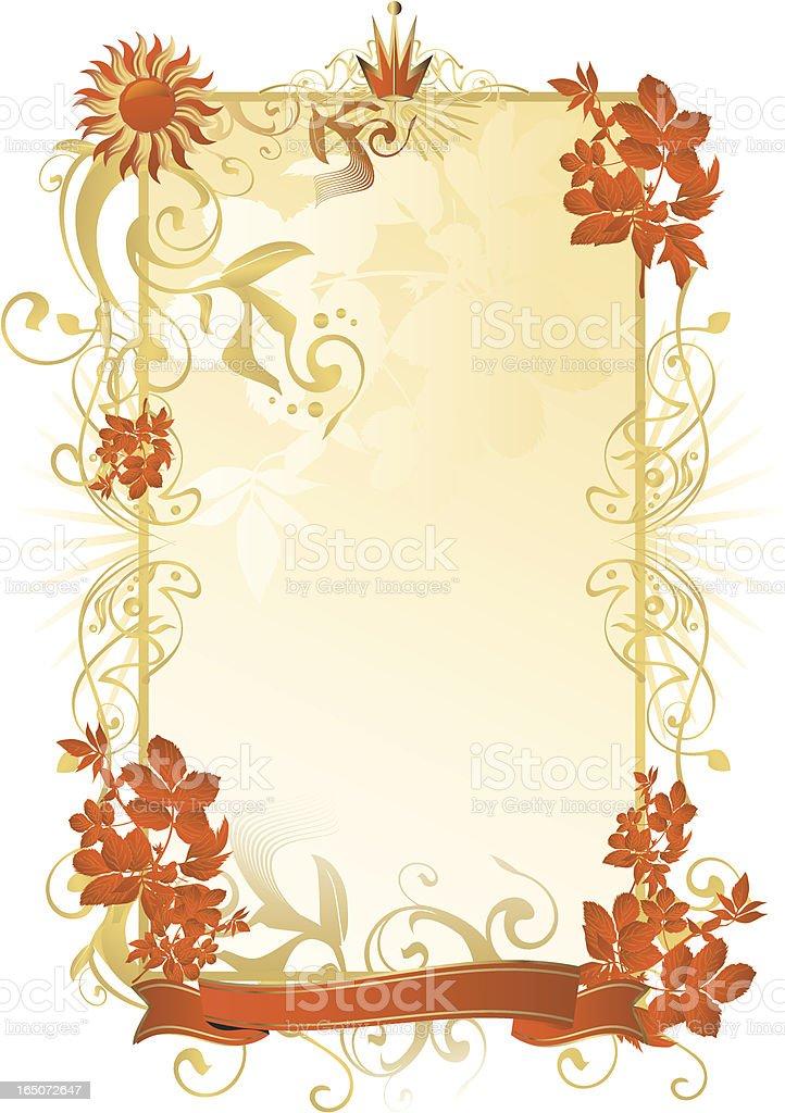 Summer ornamental frame royalty-free stock vector art