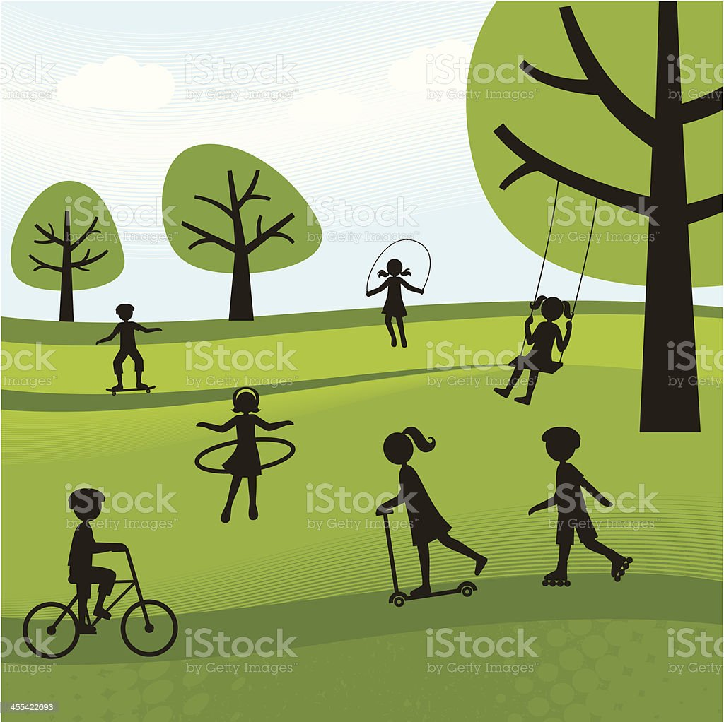 Summer Outdoor Activities vector art illustration