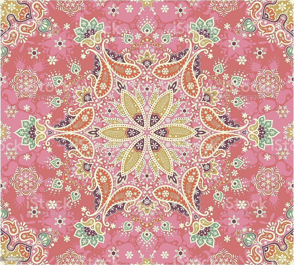 Summer paisley vector art illustration