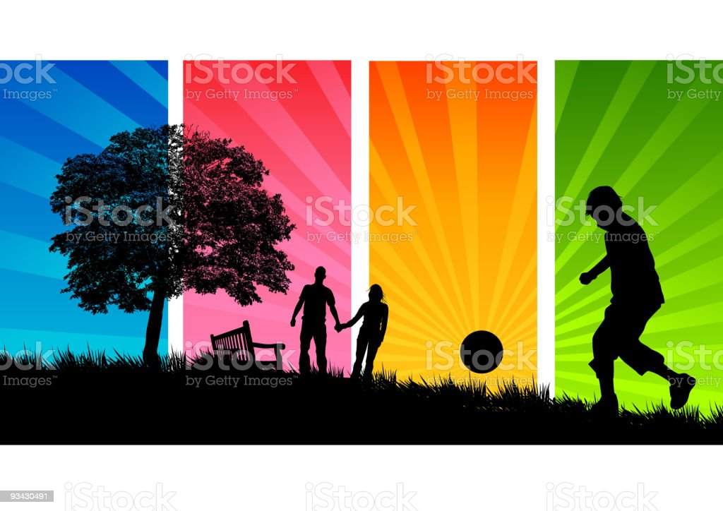Summer Park (People) royalty-free stock vector art