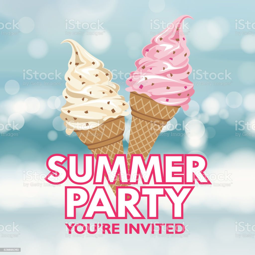 Summer Party Invitation vector art illustration