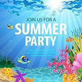 Summer Party On Ocean Floor