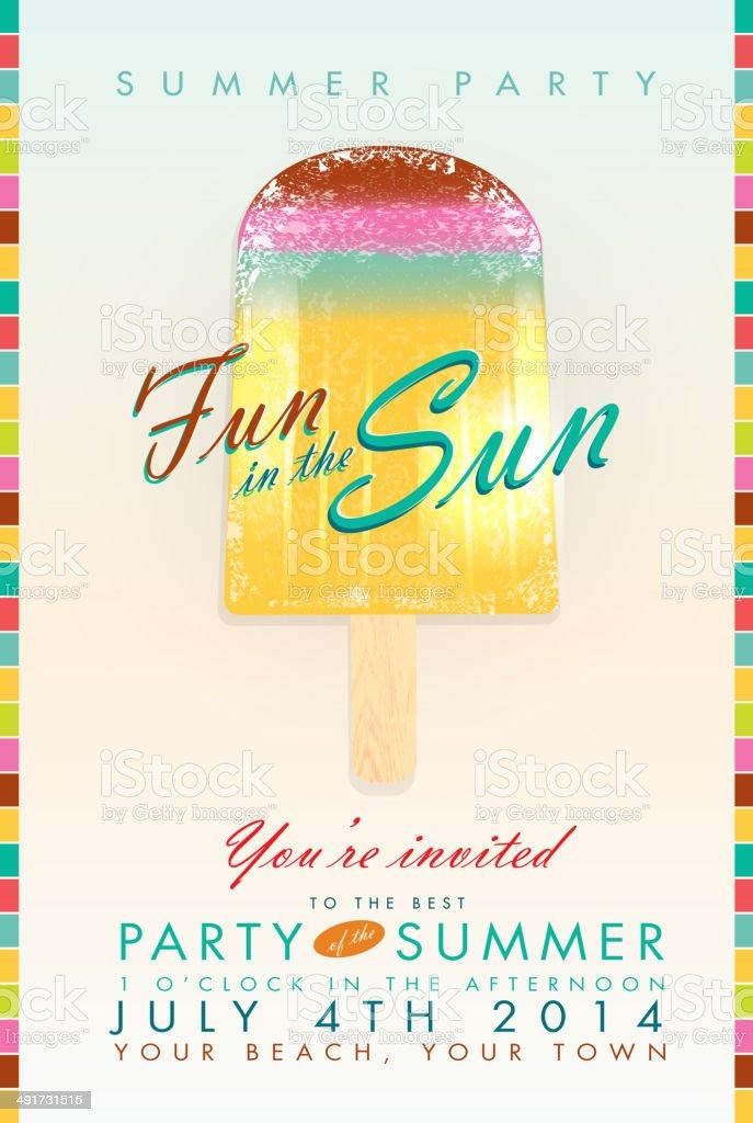 Sommer Party Eis Am Stiel Fun In The Sun Vorlage Der Einladung
