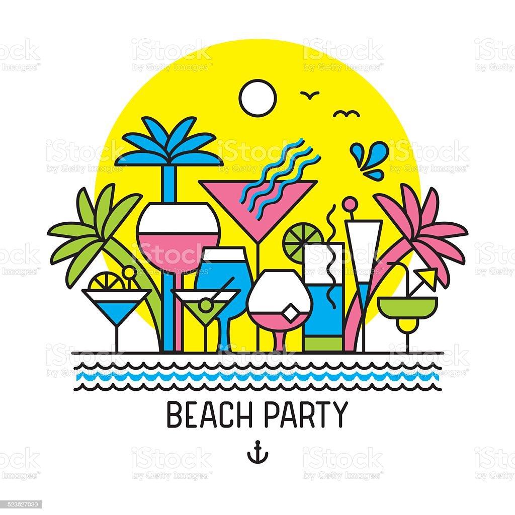 Summer Party vector art illustration