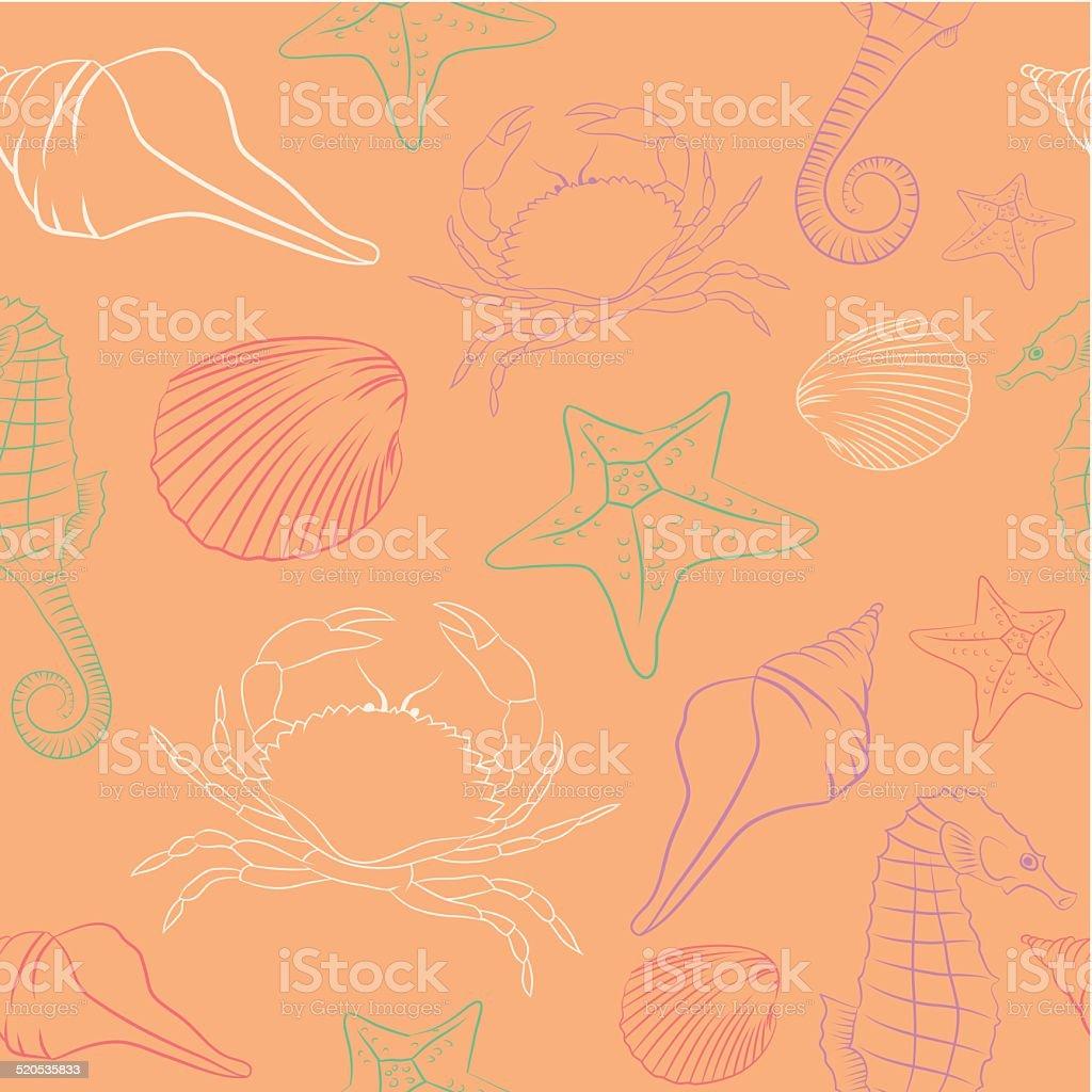 Summer Pattern vector art illustration
