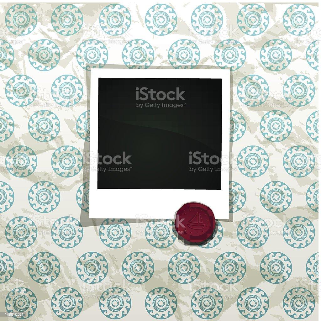 Summer Photo Frame royalty-free stock vector art