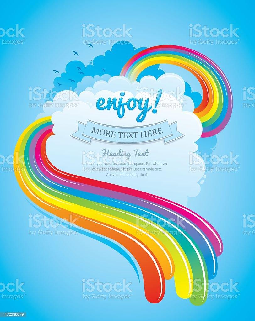 Summer rainbow design vector art illustration
