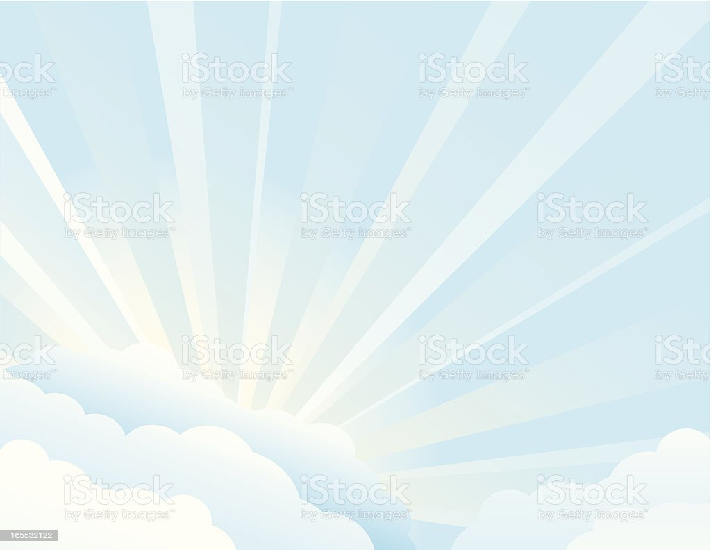Summer Rays royalty-free stock vector art