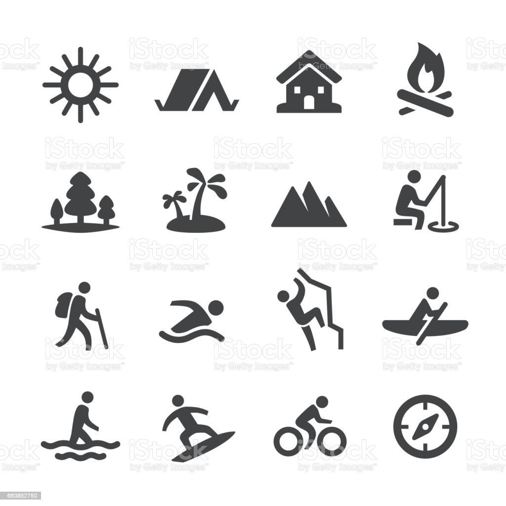 Summer Recreation Icons - Acme Series vector art illustration