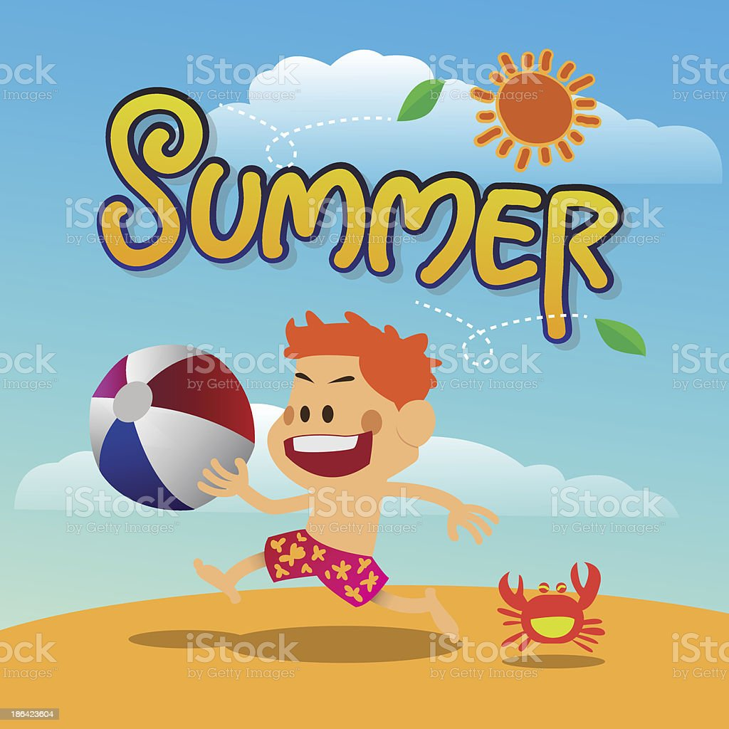 summer relaxing on the beach concept royalty-free stock vector art