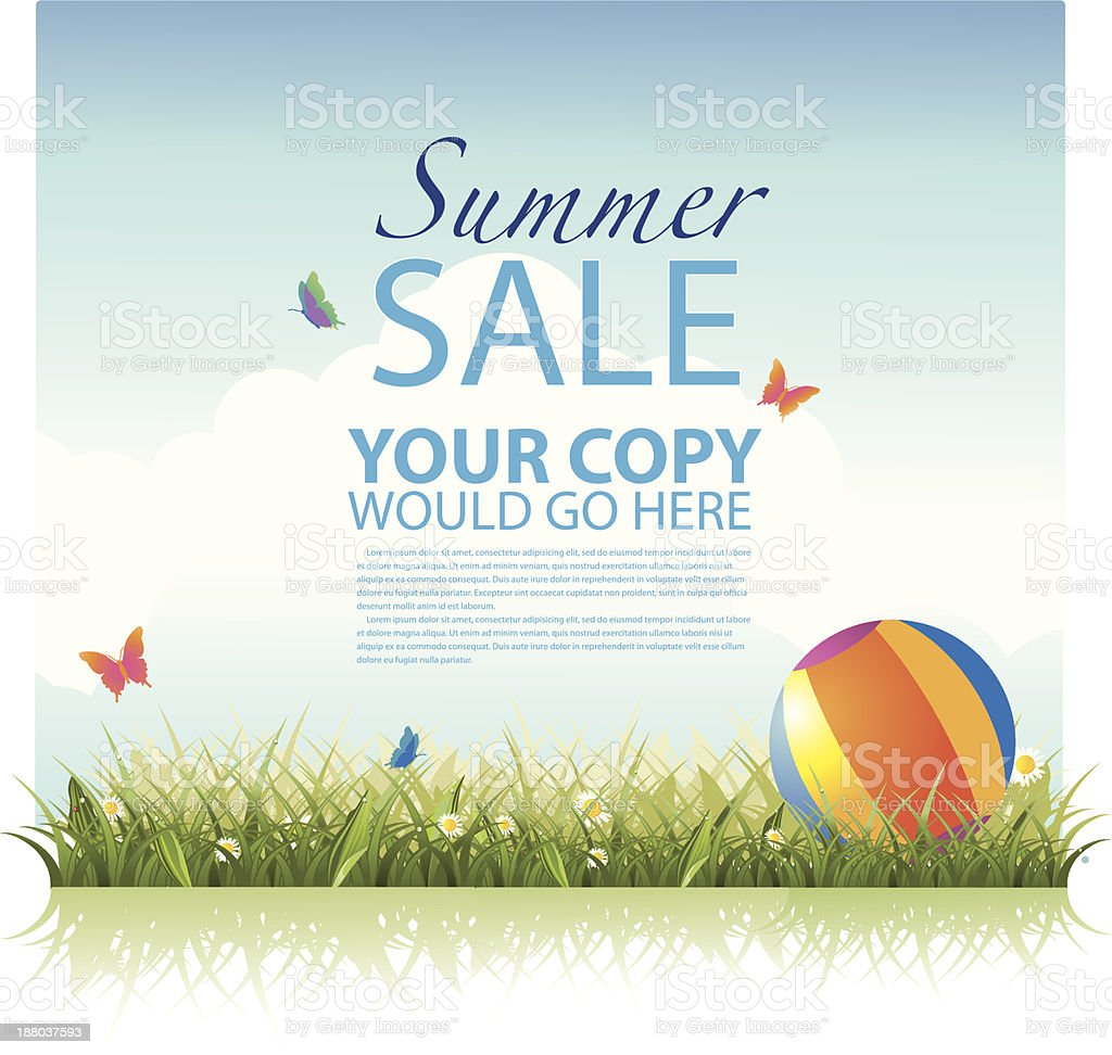 Summer sale background template royalty-free stock vector art