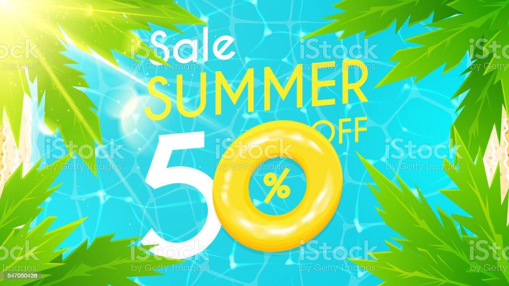 Summer sale banner royalty-free stock vector art
