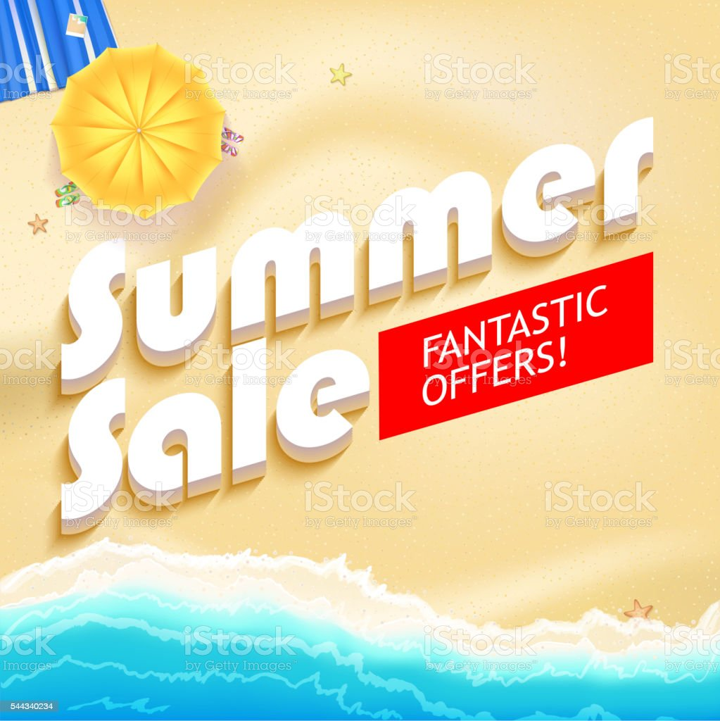 Summer sale bright vector vector art illustration