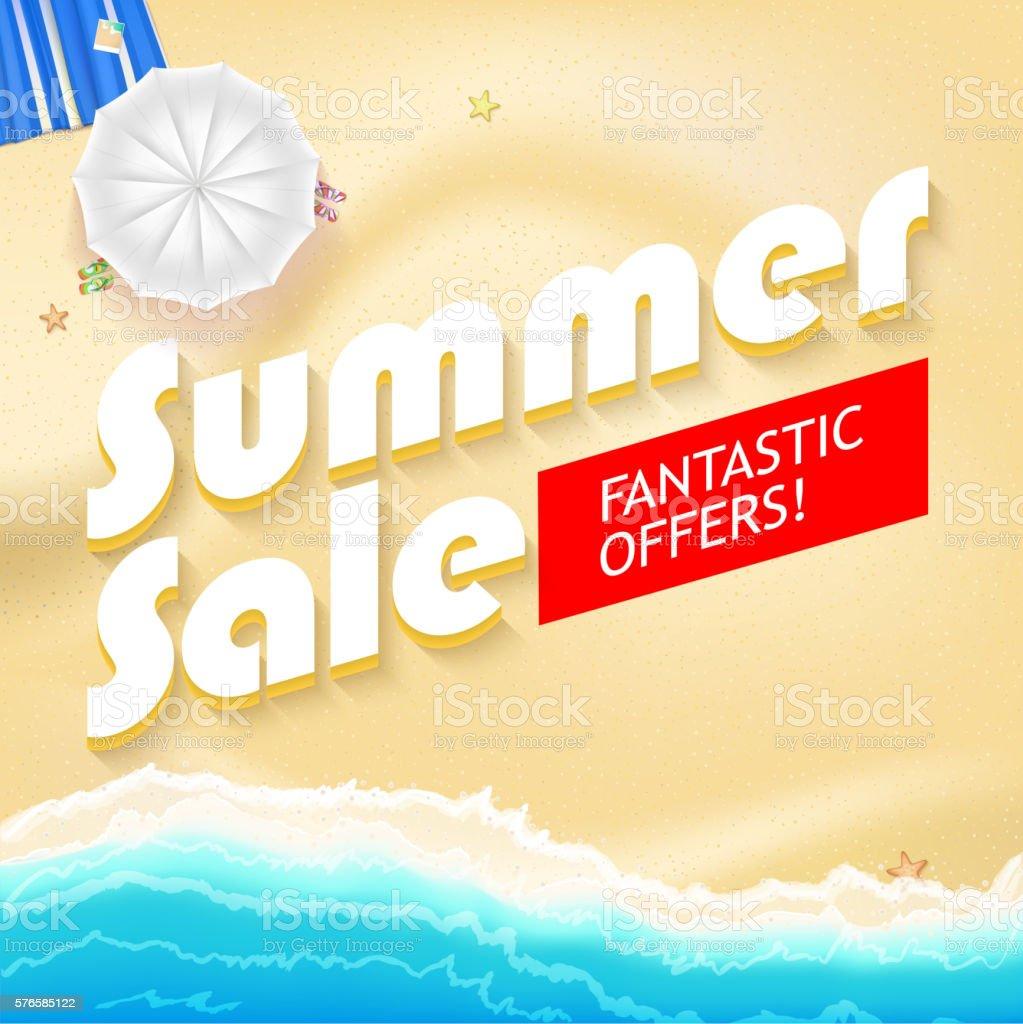 Summer sale bright vector vector art illustration