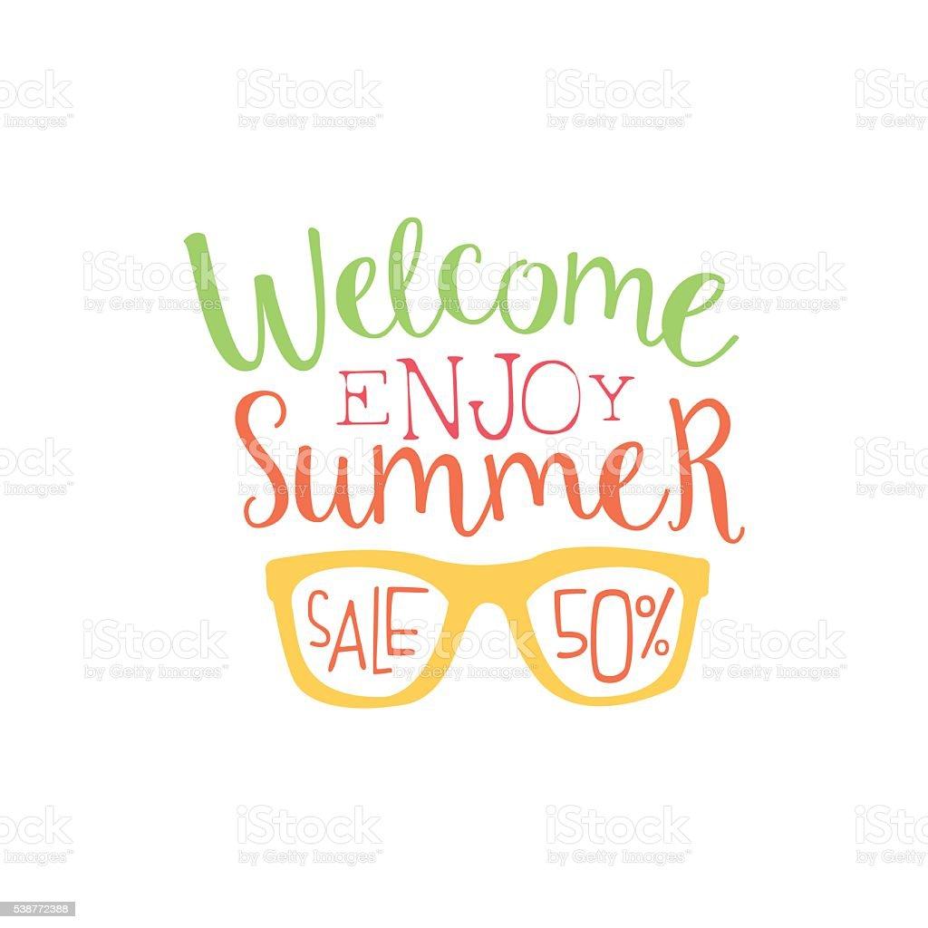 Summer Sale Colorful Ad vector art illustration