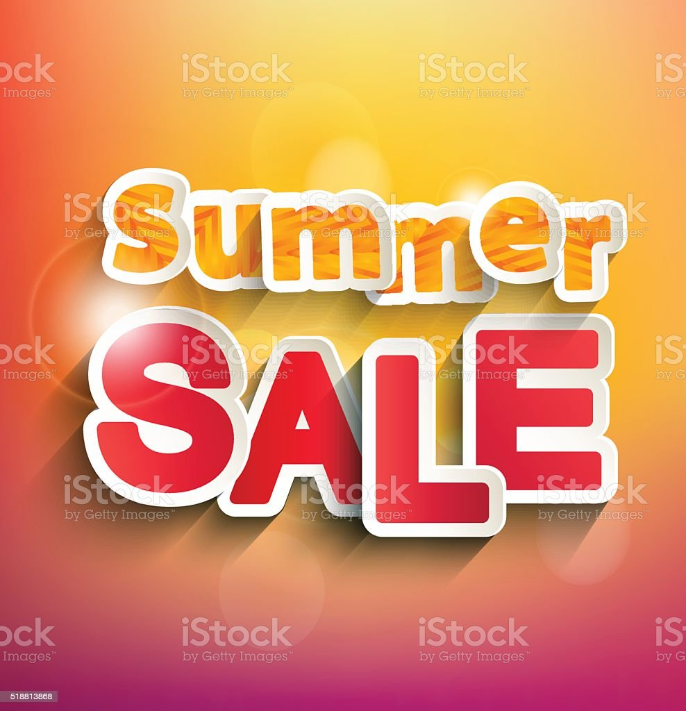 Summer sale concept. vector art illustration