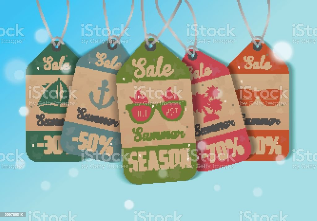 Summer Sale. Tags. Vector illustration vector art illustration