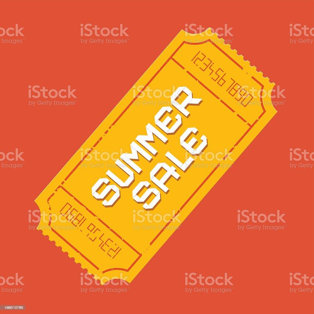 Summer Sale Ticket Illustration vector art illustration