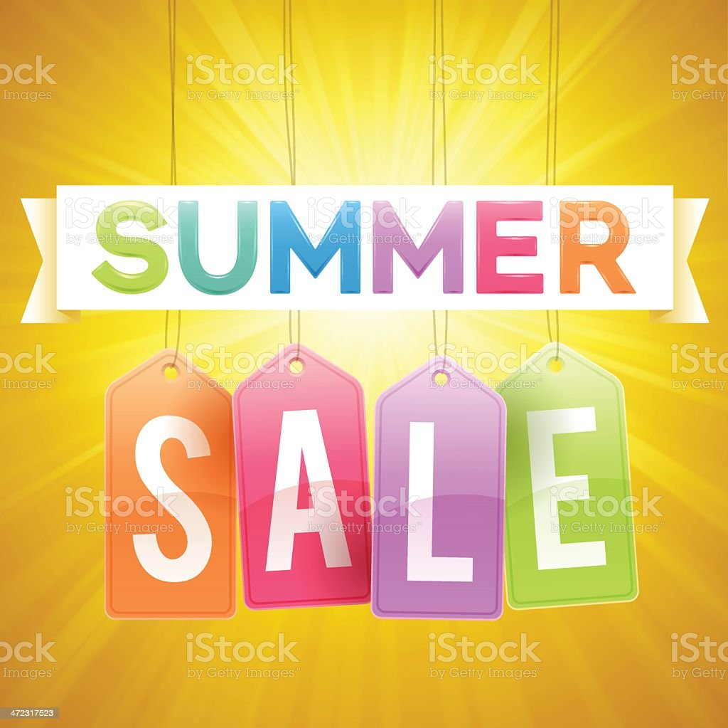 Summer Sale vector art illustration