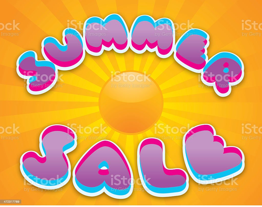 Summer Sale royalty-free stock vector art