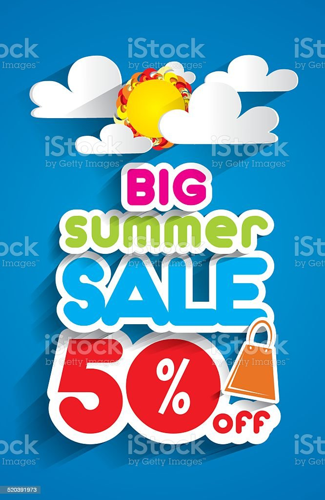 Summer Sale vector art illustration
