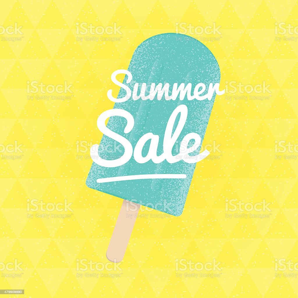 Summer Sale. Vector triangular background with ice-cream. vector art illustration