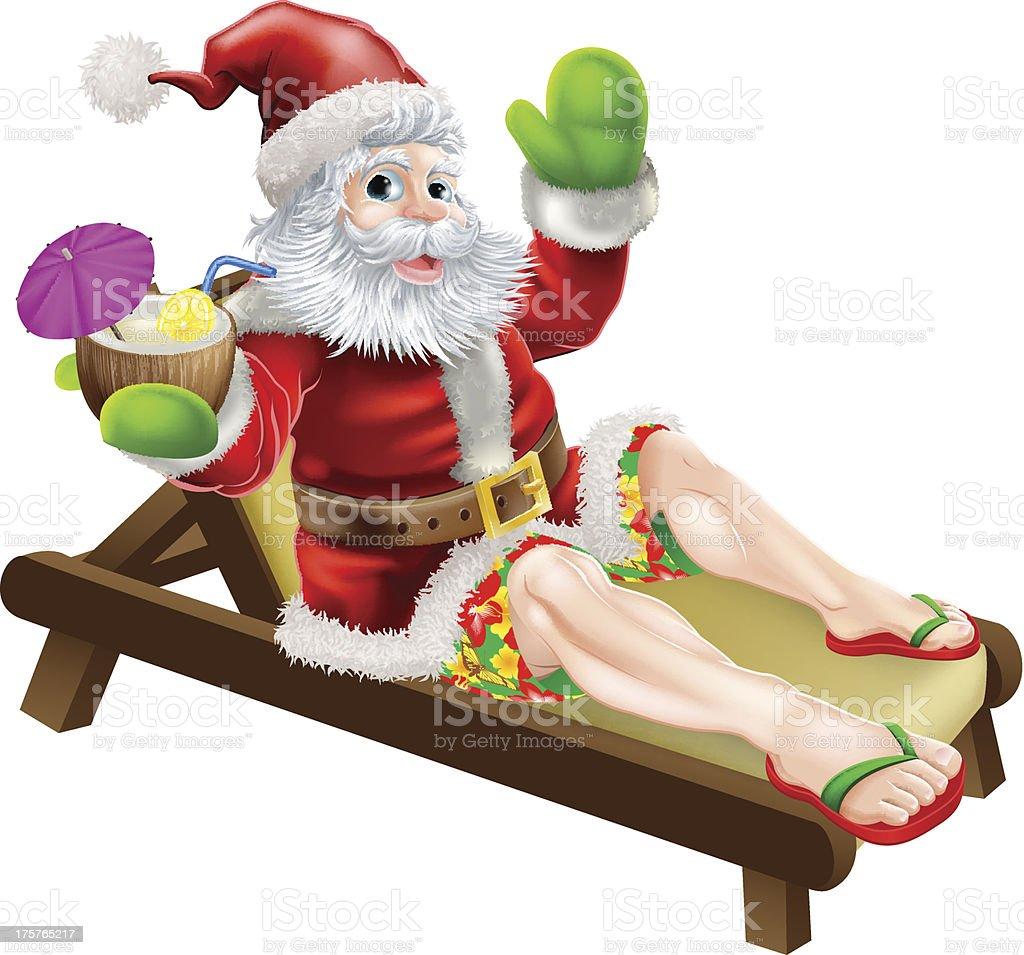 Summer Santa royalty-free stock vector art