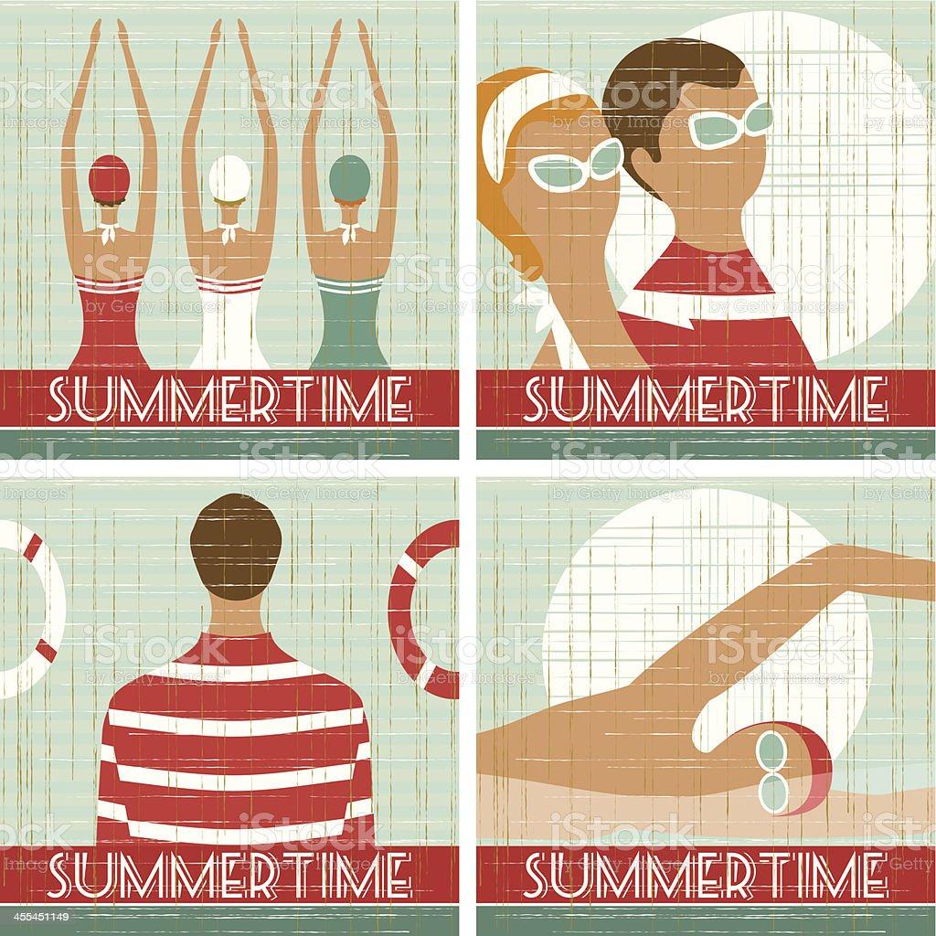 Summer scenes royalty-free stock vector art