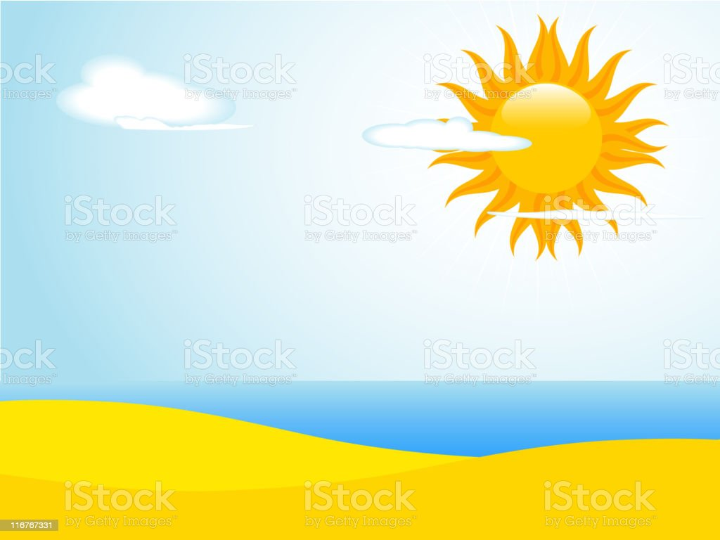 Summer sea and sand royalty-free stock vector art