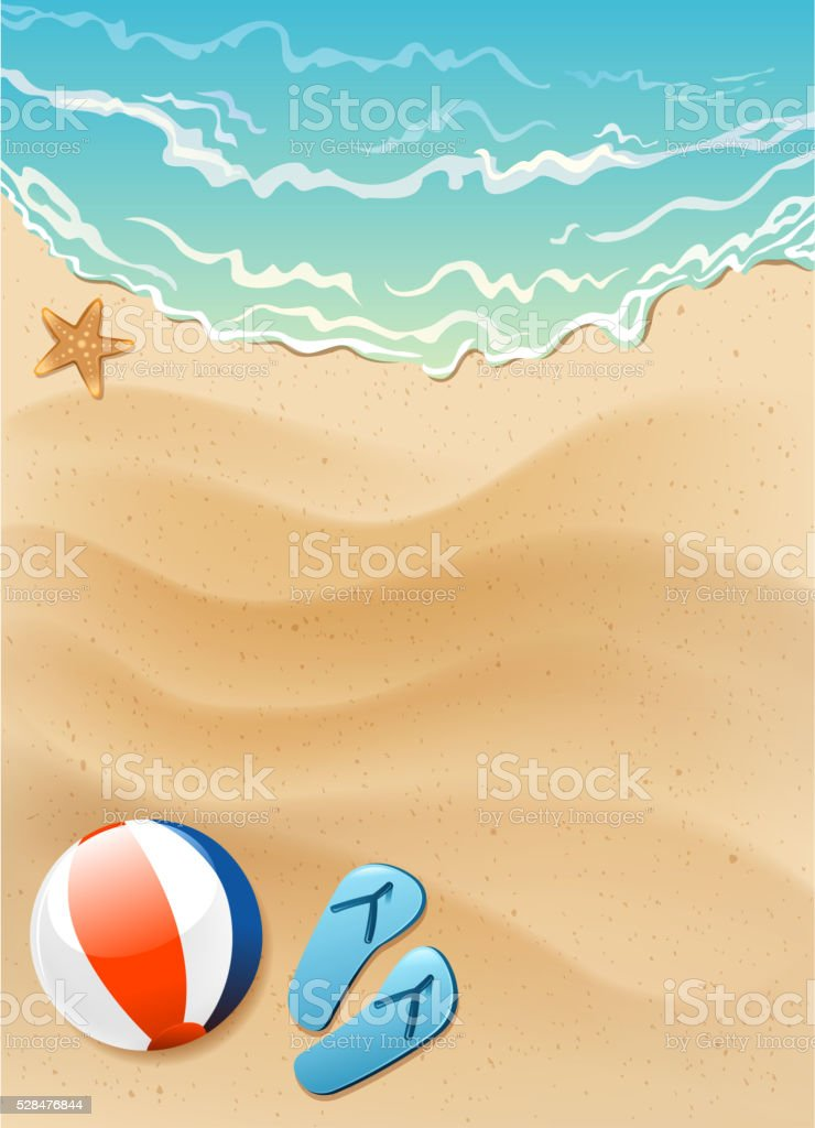 summer sea sign vector art illustration