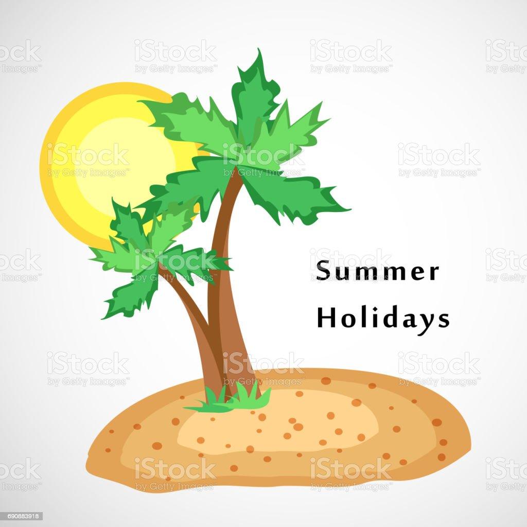 Summer season background vector art illustration