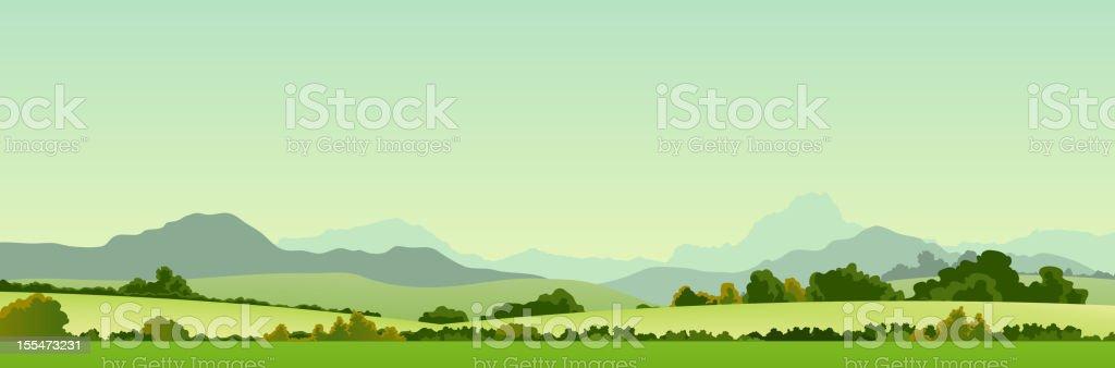 Summer Season Country Banner vector art illustration
