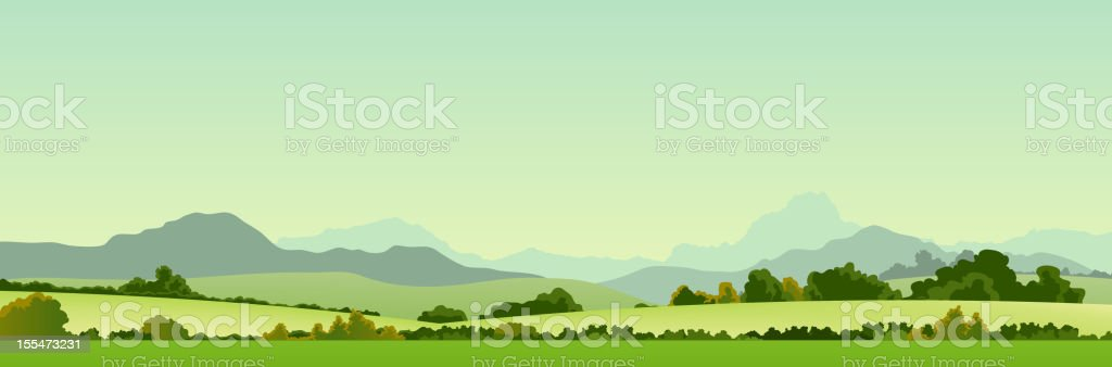 Summer Season Country Banner vector art illustration