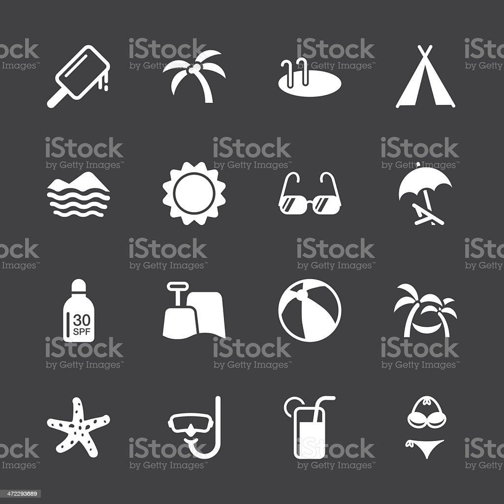 Summer Season Icons - White Series | EPS10 royalty-free stock vector art