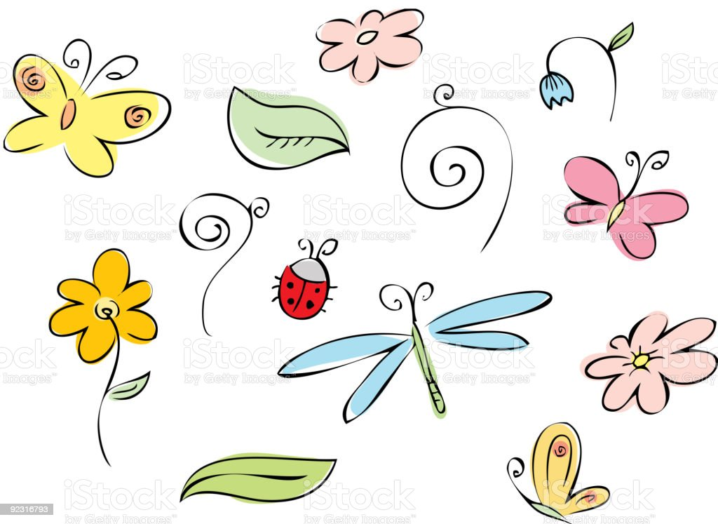 Summer set royalty-free stock vector art