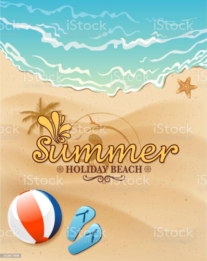 summer sign vector art illustration