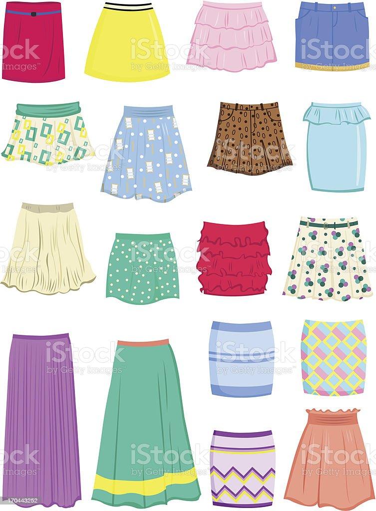Summer skirts royalty-free stock vector art