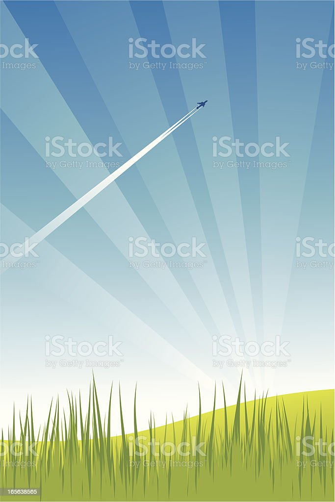 Summer Sky vector art illustration