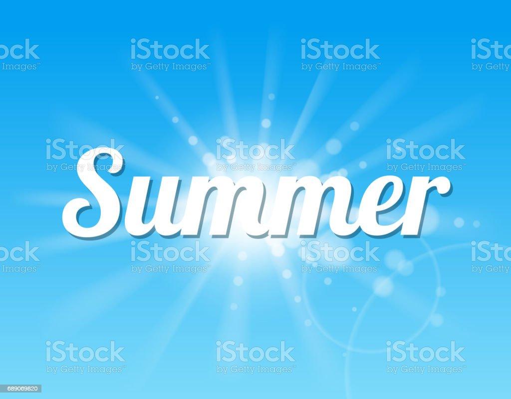 summer sky vector art illustration