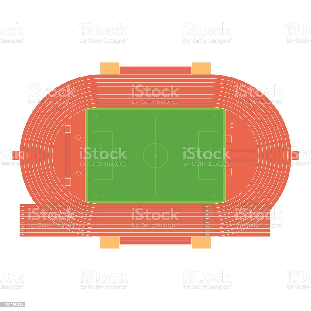 Summer sport stadium vector art illustration